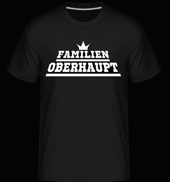 Familien Oberhaupt - Shirtinator Männer T-Shirt - Schwarz - Vorn
