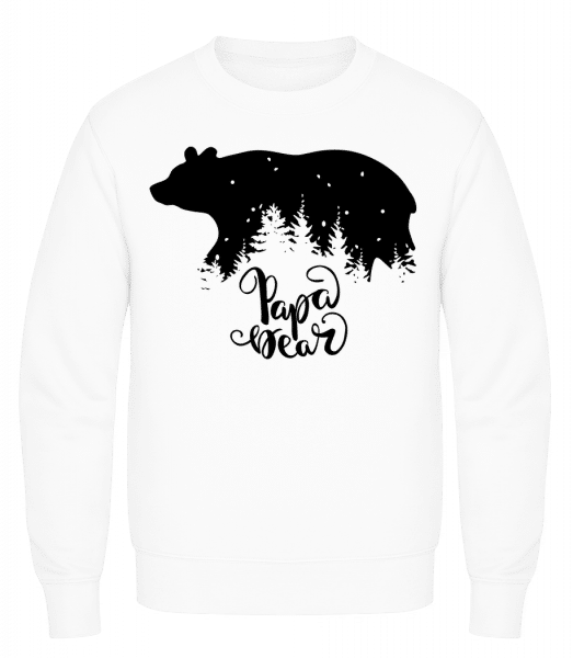 Papa Bear - Men's Sweatshirt AWDis - White - Vorn