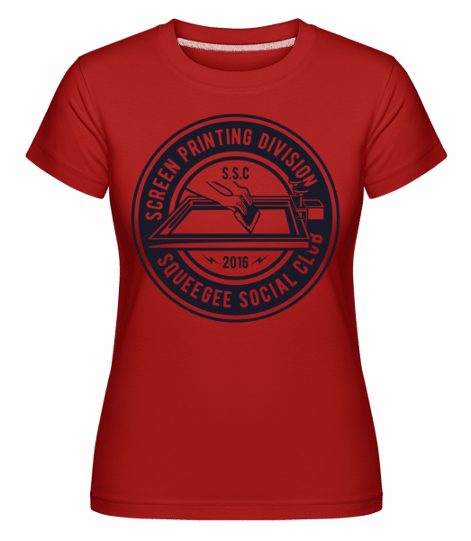 Squeegee Social Club -  Shirtinator Women's T-Shirt - Red - Vorn
