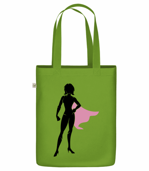 "Superwoman Silhouette - Organic ""Earth Positive"" tote bag - Olive - Vorn"