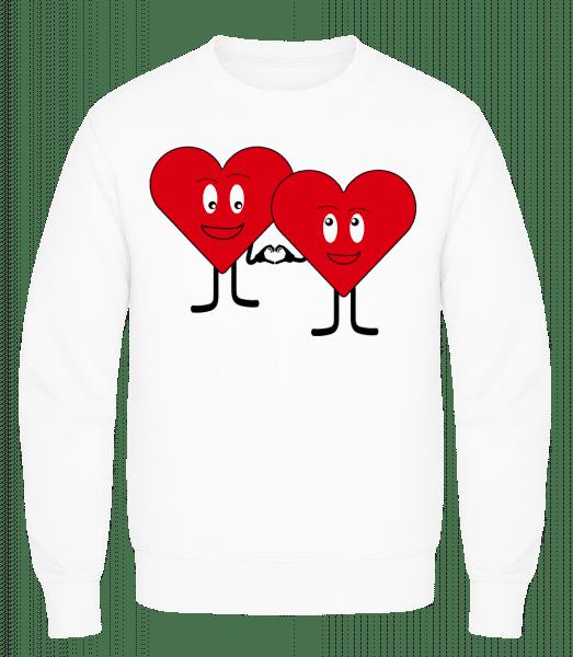 Two Hearts Love Each Other - Men's Sweatshirt AWDis - White - Vorn