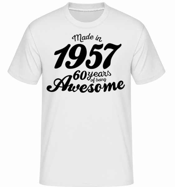 Made In 1957 -  T-Shirt Shirtinator homme - Blanc - Devant