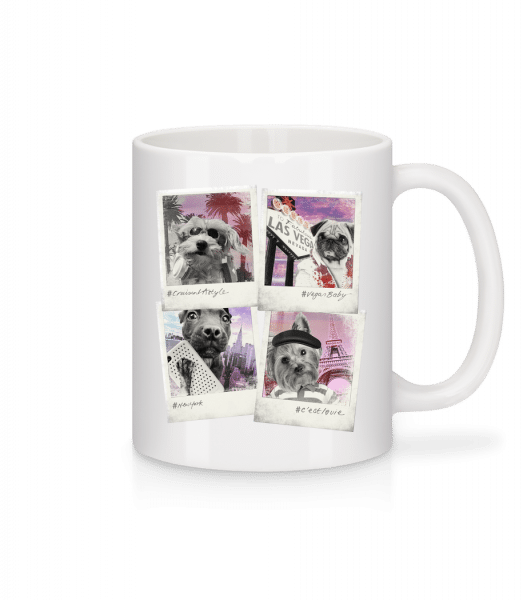 Dog Polaroids - Mug - White - Vorn