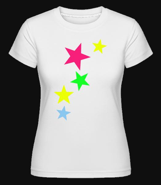 Colorful Stars -  Shirtinator Women's T-Shirt - White - Vorn