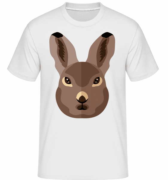 Bunny Comic Shadow -  Shirtinator Men's T-Shirt - White - Vorn