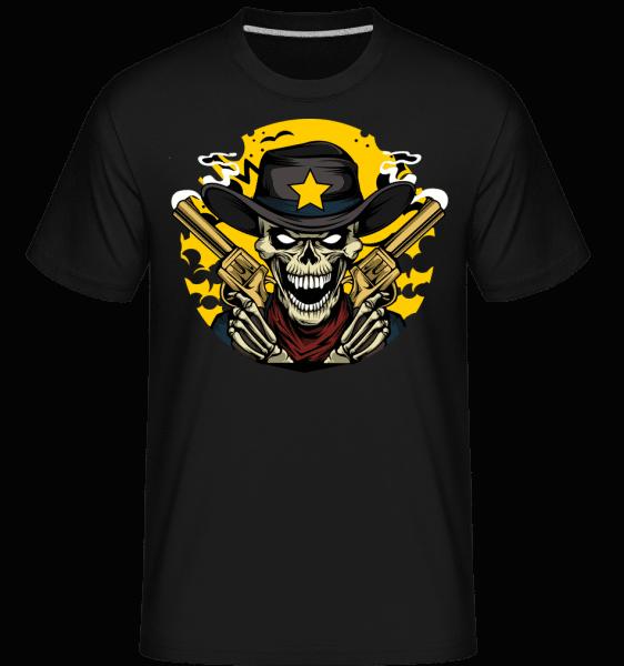Cowboy Skull -  Shirtinator Men's T-Shirt - Black - Front
