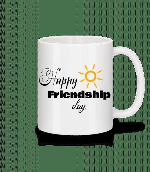 Happy Friendship Day - Tasse - Weiß - Vorn