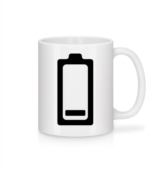 Battery Low Icon - Mug - White - Vorn