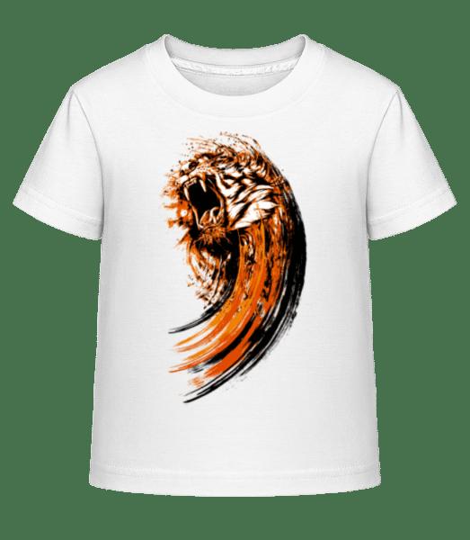 Roaring Tiger - Kid's Shirtinator T-Shirt - White - Vorn