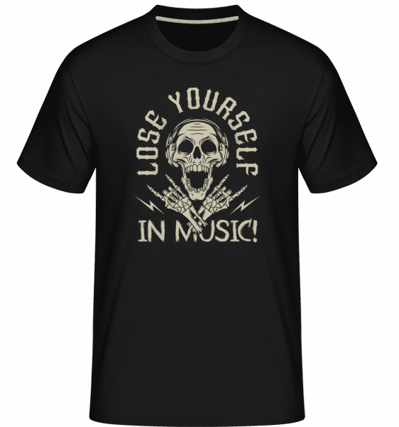 Lose Yourself In Music -  Shirtinator Men's T-Shirt - Black - Front