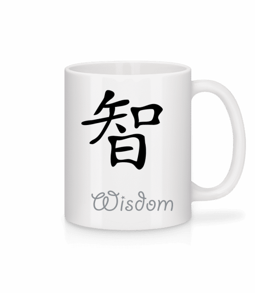 Chinese Sign Wisdom - Tasse - Weiß - Vorn