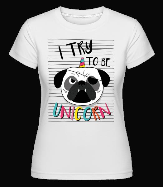 Unicorn Dog -  Shirtinator Women's T-Shirt - White - Vorn
