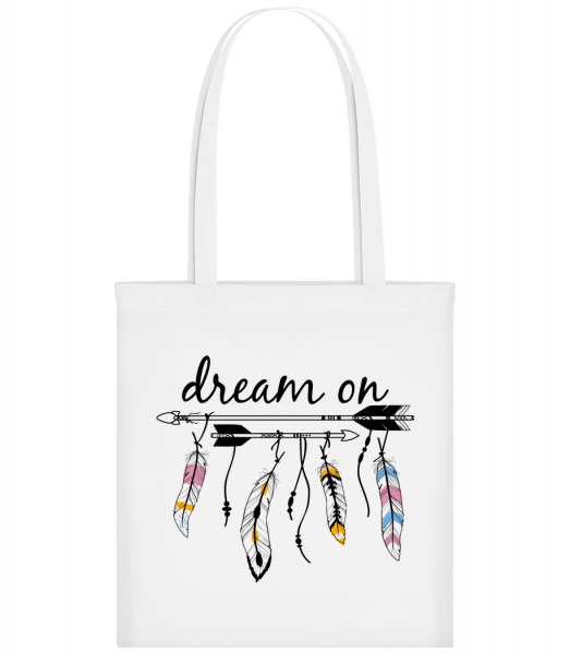 Dream On - Carrier Bag - White - Vorn