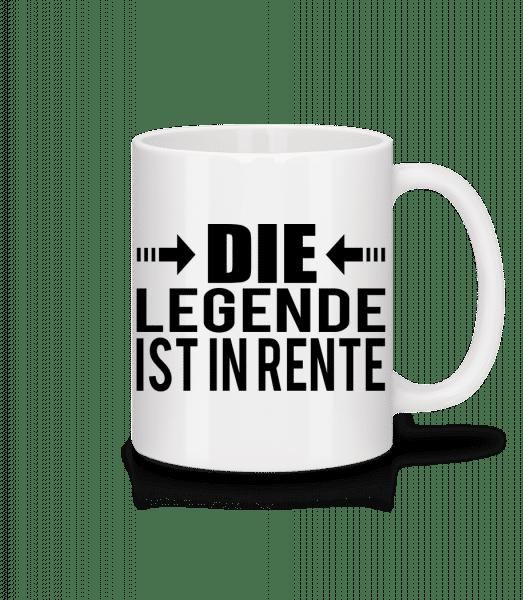 Die Legende Ist In Rente - Tasse - Weiß - Vorn