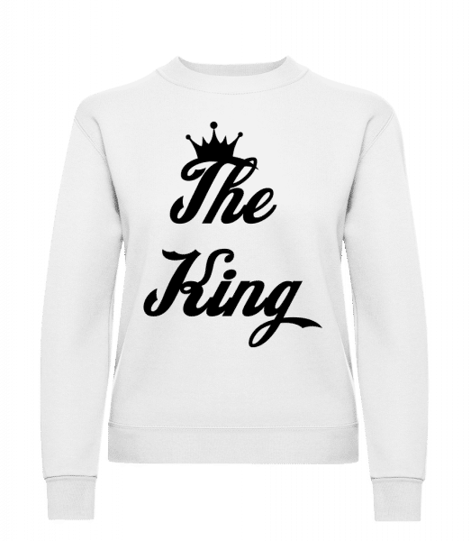The King - Women's Sweatshirt - White - Vorn