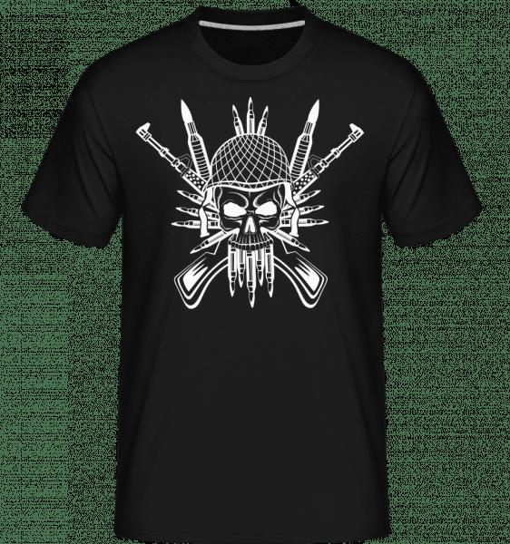 Soldier Skull Tattoo -  Shirtinator Men's T-Shirt - Black - Vorn