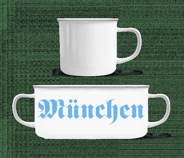 München - Enamel-cup - White - Vorn