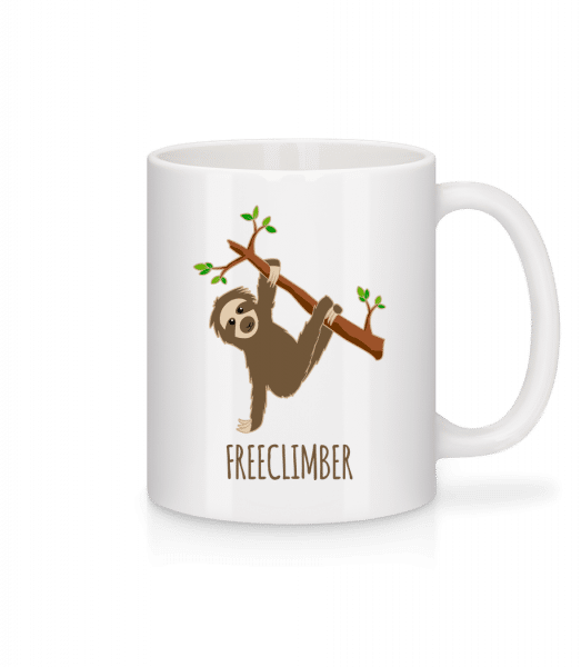 Freeclimber Sloth - Mug - White - Front