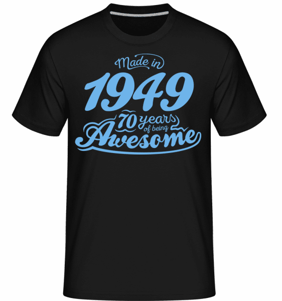 Made In 1949 70 Years Awesome - Shirtinator Männer T-Shirt - Schwarz - Vorn