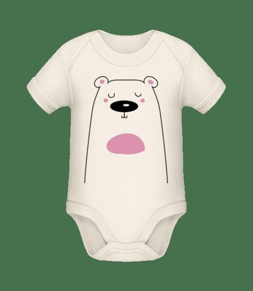 Cute Bear - Organic Baby Body - Cream - Vorn