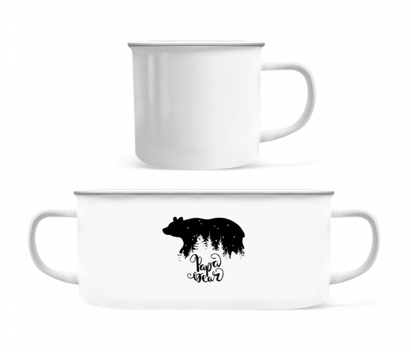 Papa Bear - Enamel-cup - White - Vorn