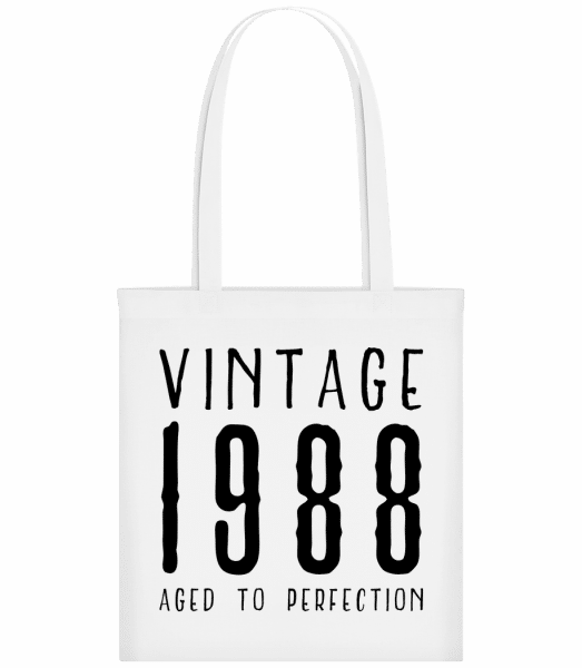 Vintage 1988 Aged To Perfection - Carrier Bag - White - Vorn