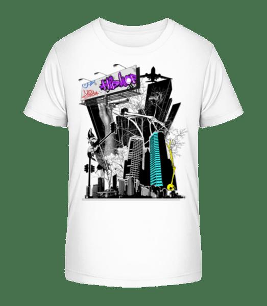Big City Spectacle - Kid's Premium Bio T-Shirt - White - Front