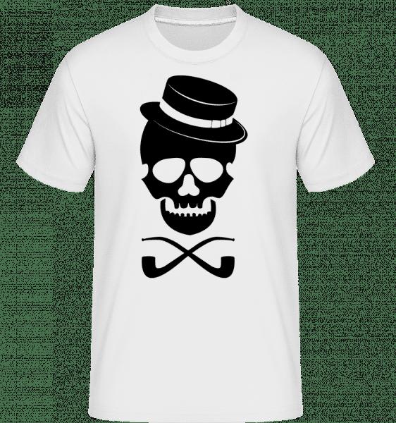 Crâne Avec Chapeau -  T-Shirt Shirtinator homme - Blanc - Vorn