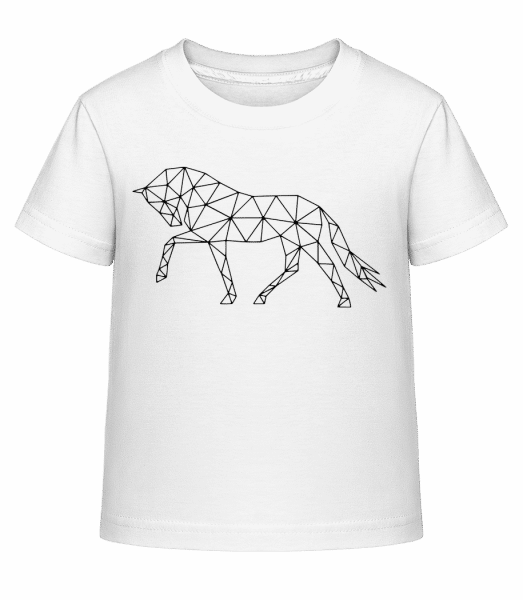 Polygon Horse - Kid's Shirtinator T-Shirt - White - Vorn