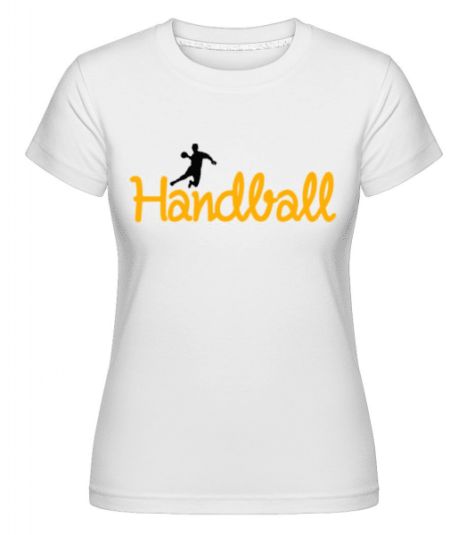 Handball Logo Player -  Shirtinator Women's T-Shirt - White - Front