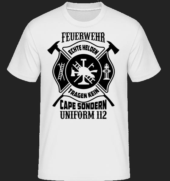 Echte Helden Tragen Uniform - Shirtinator Männer T-Shirt - Weiß - Vorn