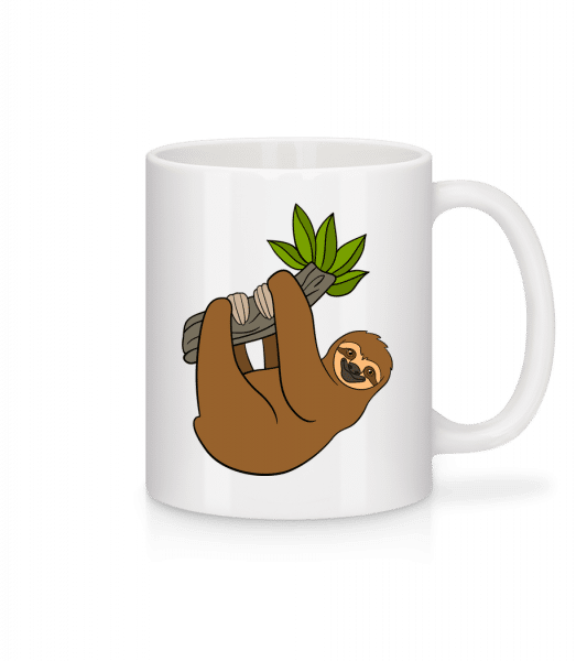 Sloth Hangs On The Branch - Mug - White - Vorn