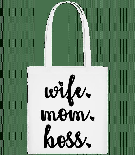 Wife Mom Boss - Sac tote - Blanc - Vorn