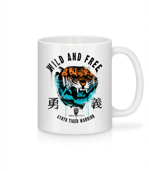 Wild And Free Tiger - Mug - White - Vorn