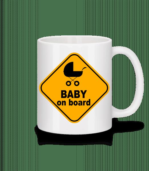 Baby On Board - Mug - White - Front