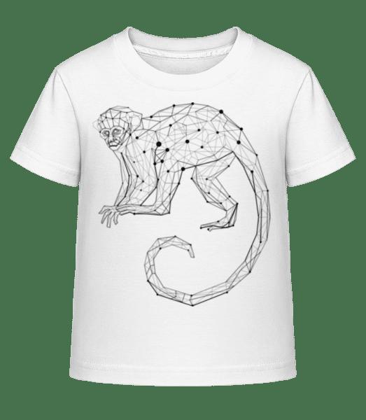 Polygon Monkey - Kid's Shirtinator T-Shirt - White - Vorn