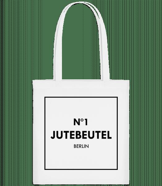 N1 Jutebeutel Berlin - Stoffbeutel - Weiß - Vorn