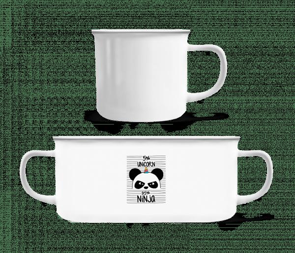 5% Unicorn 95% Ninja - Enamel-cup - White - Vorn