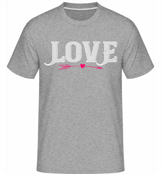Love -  Shirtinator Men's T-Shirt - Heather grey - Vorn