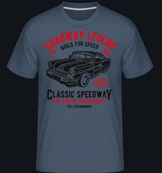 Roadway Legend -  Shirtinator Men's T-Shirt - Denim - Vorn