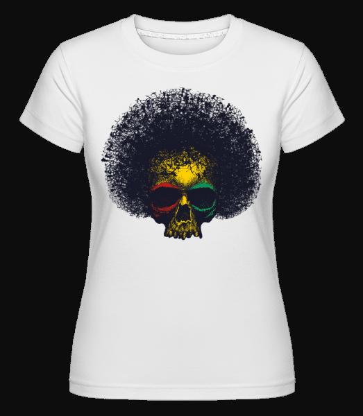 Reggae Skull -  Shirtinator Women's T-Shirt - White - Vorn