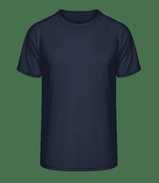 T-shirt Fit Performance - Marine - Vorn