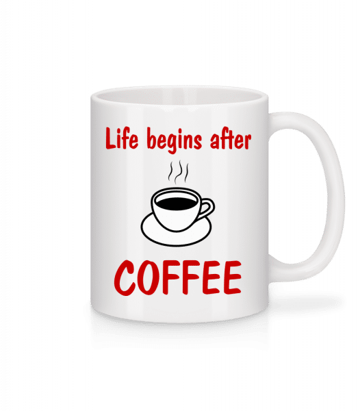 Life Begins After Coffee - Mug - White - Vorn