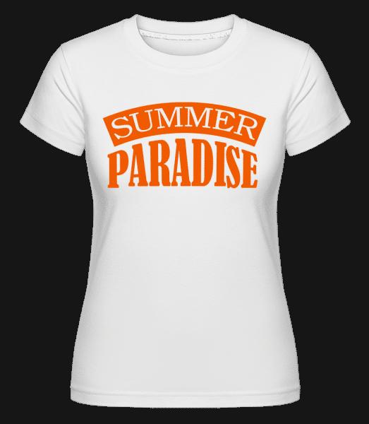 Summer Paradise Orange -  Shirtinator Women's T-Shirt - White - Vorn