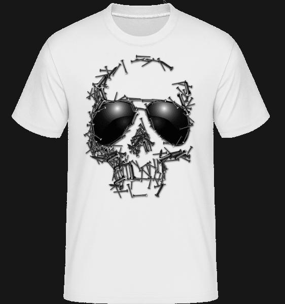Skull Of Nails -  Shirtinator Men's T-Shirt - White - Vorn