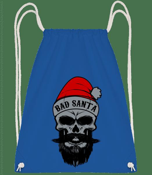Bad Santa Skull - Drawstring Backpack - Royal blue - Vorn