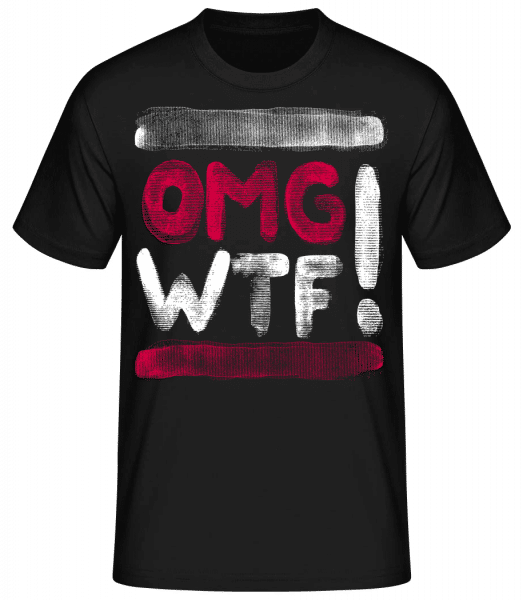 OMG WTF - Men's Basic T-Shirt - Black - Front