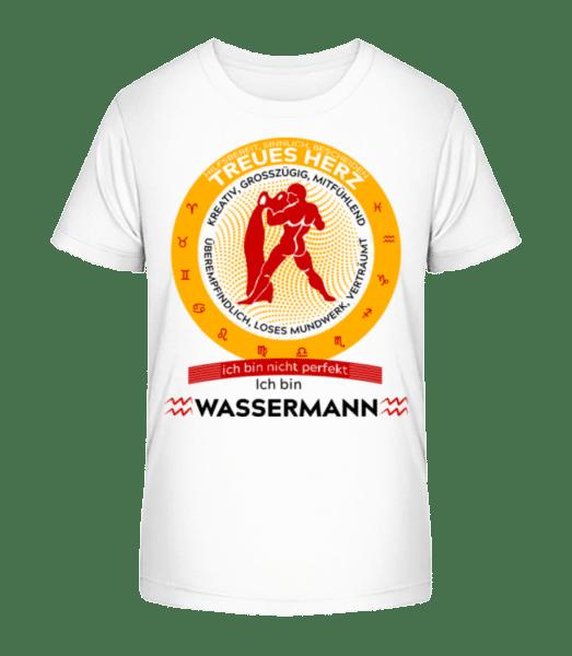 Sternzeichen Wassermann - Kinder Premium Bio T-Shirt - Weiß - Vorn