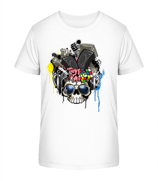 Creative Skull - Kid's Premium Bio T-Shirt - White - Front