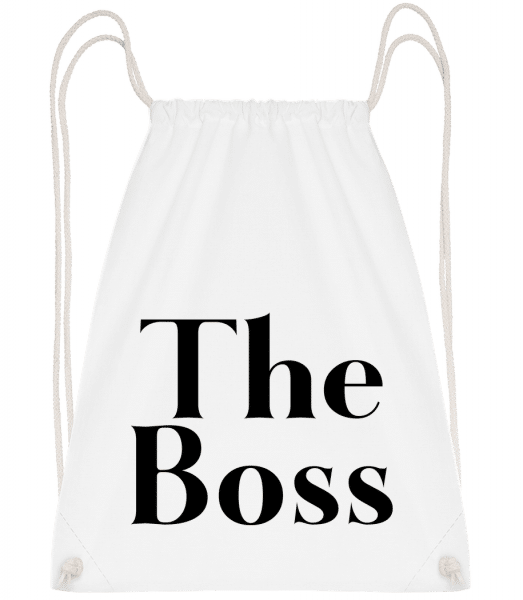 The Boss - Drawstring Backpack - White - Vorn